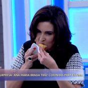 Ana Maria Braga leva coxinha de frango para Fátima Bernardes no 'Encontro'