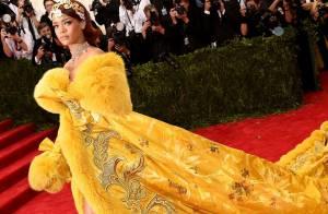 Veja famosas, como Rihanna, que já apostaram em looks de cauda longa no Met Gala