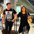 Preta Gil embarou com o marido, Rodrigo Godoy, para Dubai, nesta quinta-feira, 14 de maio de 2015. Lua de mel em Dubai também foi presente de amigos