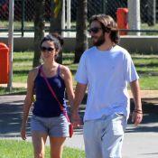 Claudia Ohana se exercita com o novo namorado, Guilherme Paranhos, no RJ