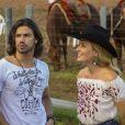 Angélica gravou no Pantanal com Munhoz e Mariano