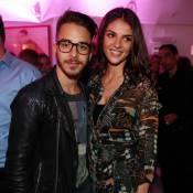 Junior Lima leva a namorada, Monica Benini, à gravação de 'Sai de Baixo'