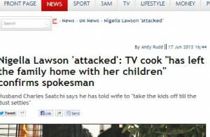 Chef Nigella sai de casa com os filhos após agressão do marido em restaurante