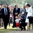 Príncipe William e Kate Middleton reservaram um momento para dar atenção ao primogênito, príncipe George