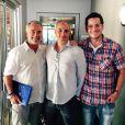 Sam Nicholson, diretor e produtor americano, Alexandre Avancini, diretor de 'Os Dez Mandamentos', e Leandro Santa Rita, produtor de efeitos visuais, em Los Angeles