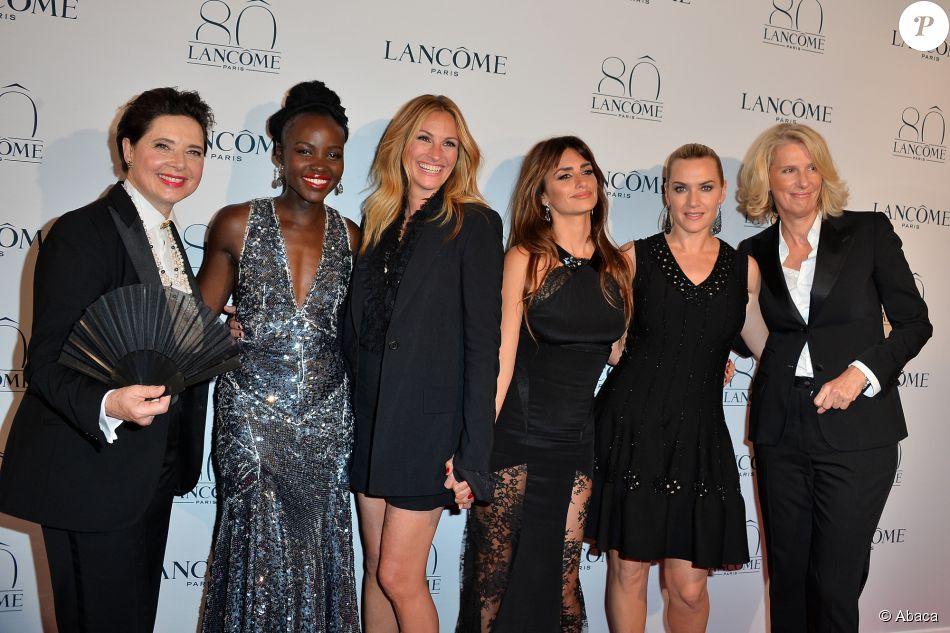 Julia Roberts, Kate Winslet, Penélope Cruz, Lupita Nyong'o e Isabella Rossellini brilharam no tapete vermelho da festa que comemorou os 80 anos da marca de cosméticos Lancôme