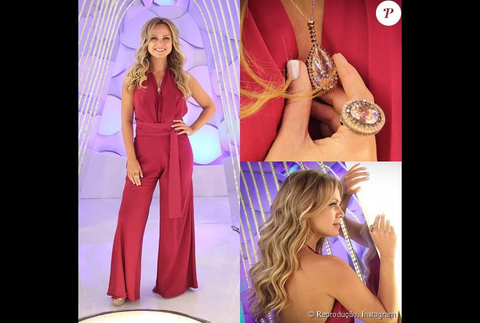 318eb7137 Fugindo um pouco dos looks de vestido ou top e saia, Eliana apostou em um