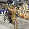 Claudia Raia desfilou, mais uma vez, pela Beija-Flor neste Carnaval
