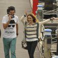 Isabelle Drummond comemorou após gravar sua última cena na novela 'Sete Vidas' na tarde de quarta-feira, 8 de julho de 2015, na Marina da Glória, no Rio de Janeiro