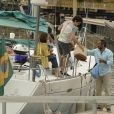 Isabelle Drummond e Jayme Monjardim gravaram as cenas finais da novela 'Sete Vidas' na tarde de quarta-feira, 8 de julho de 2015, na Marina da Glória, no Rio de Janeiro. Domingos Montagner, Debora Bloch, Maria Eduarda de Carvalho e outros atores também participaram da gravação