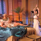Babi Xavier dança sensual para Luciano Szafir em cena de 'Os Dez Mandamentos'