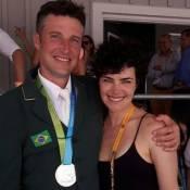 Ana Paula Arósio comemora vitória do marido nos jogos Pan-Americanos