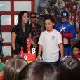 Alex, filho de Ronaldo, teve festa temática repleta de super-heróis