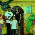 Ronaldo comemora o aniversário de 8 anos do filho Alex em uma casa de festas da Barra da Tijuca, RJ, em 27 de junho de 2013