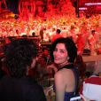 Letícia Sabatella também curtiu o fim de semana no Festival de Parintins, em Manaus