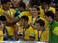 Bruna Marquezine encontra Neymar para festejar título da Copa das Confederações
