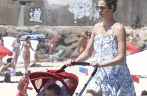 Luana Piovani passeia com o filho, Dom, sem a companhia do marido, Pedro Scooby