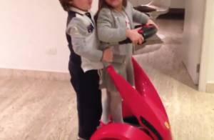 Rafaella Justus brinca com Pietro, filho de Otávio Mesquita, que comemora 4 anos