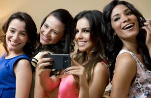 Mariana Rios se diverte durante bastidores de gravação