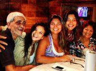 Após dar à luz, Juliana Paes reúne a família para almoço de domingo em sua casa