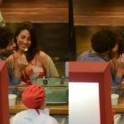 Giselle Itié e Guilherme Winter, de 'Os Dez Mandamentos', trocam beijos no Rio