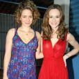 """Mariana Ximenes e Leandra Leal atuaram em """"Passione"""" e curtiram uma festa da novela que comemorava o 100º capítulo em agosto de 2010"""