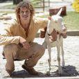 Ariana, a cabra de Candinho, personagem de José Loreto em 'Flor do Caribe', foi uma homenagem ao escritor Ariano Suassuna, que está internado no hospital após sofrer um infarto e deve ter alta ainda esta semana