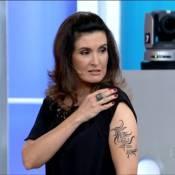 Fátima Bernardes exibe tatuagem no braço, no 'Encontro': 'Ficou ótima, né?'