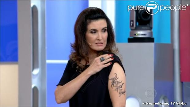 Fátima Bernardes Exibe Tatuagem No Braço No Encontro