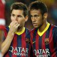 No jogo da Supercopa da Espanha, Neymar já exibiu o corte diferente, com topete mais discreto, deixando de lado o moicano que tinha quando jogava no Santos