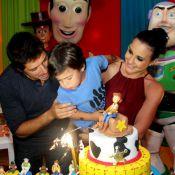 Zeca Pagodinho prestigia aniversário do filho de Juliana Knust, no Rio